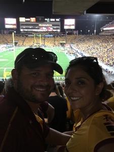Jessica attended Arizona State University Sun Devils vs. UTSA - NCAA Football on Sep 1st 2018 via VetTix