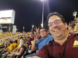 Danny attended Arizona State University Sun Devils vs. UTSA - NCAA Football on Sep 1st 2018 via VetTix