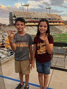 Alex attended Arizona State University Sun Devils vs. UTSA - NCAA Football on Sep 1st 2018 via VetTix