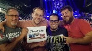 ernest attended Loudwire's Gen X Summer - Buckcherry - P. O. D. - Lit and Alien Ant Farm on Aug 22nd 2018 via VetTix
