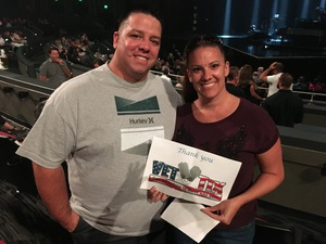 Russell attended Lionel Ritchie - Saturday on Aug 18th 2018 via VetTix