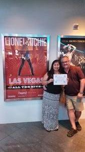 Bryan attended Lionel Ritchie - Saturday on Aug 18th 2018 via VetTix