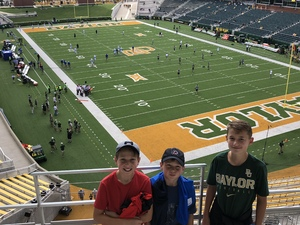 Charles attended Baylor University Bears vs. Duke - NCAA Football on Sep 15th 2018 via VetTix