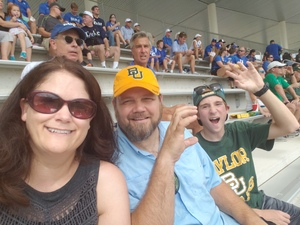 Chad attended Baylor University Bears vs. Duke - NCAA Football on Sep 15th 2018 via VetTix