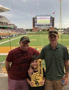 Jerall attended Baylor University Bears vs. Kansas State - NCAA Football on Oct 6th 2018 via VetTix