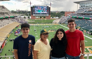 Minerva attended Baylor University Bears vs. Kansas State - NCAA Football on Oct 6th 2018 via VetTix