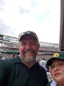 Jerry attended Baylor University Bears vs. Kansas State - NCAA Football on Oct 6th 2018 via VetTix