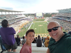 David attended Baylor University Bears vs. Kansas State - NCAA Football on Oct 6th 2018 via VetTix
