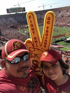 Christopher attended USC Trojans vs. UNLV - NCAA Football on Sep 1st 2018 via VetTix