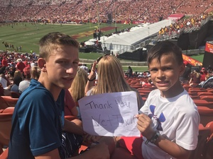 Jeremy attended USC Trojans vs. UNLV - NCAA Football on Sep 1st 2018 via VetTix