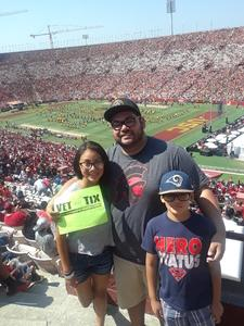Joe attended USC Trojans vs. UNLV - NCAA Football on Sep 1st 2018 via VetTix