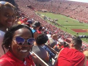 Whitney attended USC Trojans vs. UNLV - NCAA Football on Sep 1st 2018 via VetTix