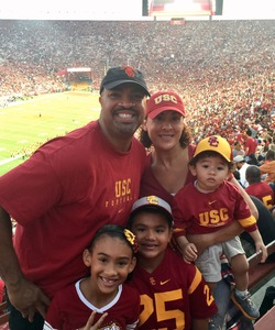 Leonard attended USC Trojans vs. UNLV - NCAA Football on Sep 1st 2018 via VetTix