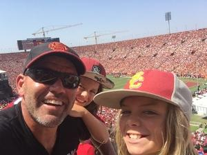 Sean attended USC Trojans vs. UNLV - NCAA Football on Sep 1st 2018 via VetTix