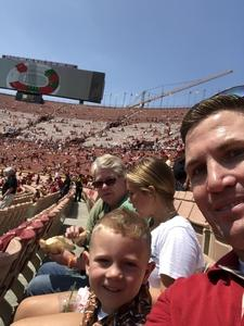 Richard attended USC Trojans vs. UNLV - NCAA Football on Sep 1st 2018 via VetTix