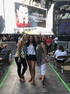 Jeanine attended Taylor Swift Reputation Tour on Sep 1st 2018 via VetTix