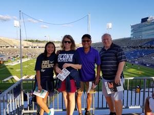Dwight attended UCONN Huskies vs. UCF Knights- NCAA Football on Aug 30th 2018 via VetTix