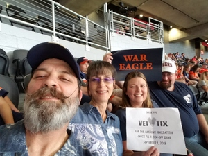Fredrick attended Washington Huskies vs. Auburn Tigers - Chick-fil-a Kickoff Game! on Sep 1st 2018 via VetTix