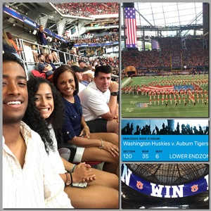 KARLA attended Washington Huskies vs. Auburn Tigers - Chick-fil-a Kickoff Game! on Sep 1st 2018 via VetTix