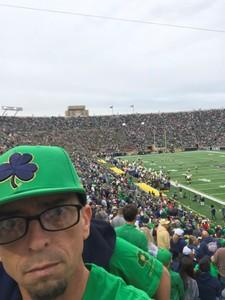 TJ attended Notre Dame Fightin' Irish vs. Vs. Ball State Cardinals - NCAA Football on Sep 8th 2018 via VetTix