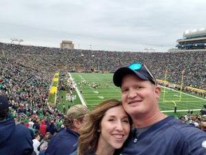 Jonathon attended Notre Dame Fightin' Irish vs. Vs. Ball State Cardinals - NCAA Football on Sep 8th 2018 via VetTix