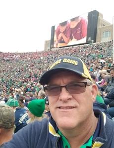 Robert attended Notre Dame Fightin' Irish vs. Vs. Ball State Cardinals - NCAA Football on Sep 8th 2018 via VetTix