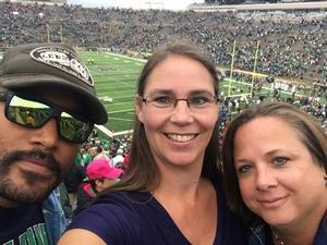 Julianne attended Notre Dame Fightin' Irish vs. Vs. Ball State Cardinals - NCAA Football on Sep 8th 2018 via VetTix
