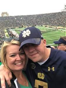 Jason attended Notre Dame Fightin' Irish vs. Vs. Ball State Cardinals - NCAA Football on Sep 8th 2018 via VetTix