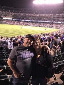 Jon attended Colorado Rockies vs San Francisco Giants - MLB on Sep 4th 2018 via VetTix