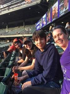 Rose attended Colorado Rockies vs San Francisco Giants - MLB on Sep 4th 2018 via VetTix