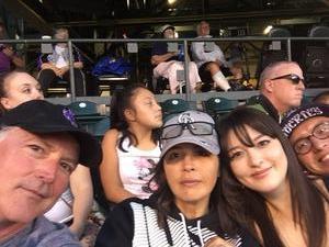 Lance attended Colorado Rockies vs San Francisco Giants - MLB on Sep 4th 2018 via VetTix