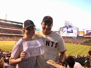 Gabriel attended Colorado Rockies vs San Francisco Giants - MLB on Sep 4th 2018 via VetTix