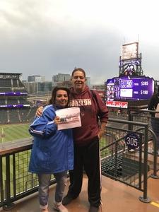 alan attended Colorado Rockies vs San Francisco Giants - MLB on Sep 5th 2018 via VetTix