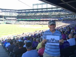 Dean attended Colorado Rockies vs Arizona Diamondbacks - MLB on Sep 13th 2018 via VetTix