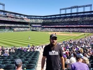 Brian attended Colorado Rockies vs Arizona Diamondbacks - MLB on Sep 13th 2018 via VetTix