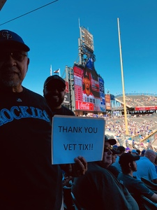 John attended Colorado Rockies vs Arizona Diamondbacks - MLB on Sep 13th 2018 via VetTix