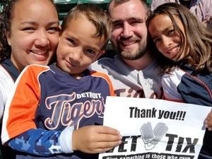 Alyssa attended Detroit Tigers vs. Kansas City Royals - MLB on Sep 23rd 2018 via VetTix