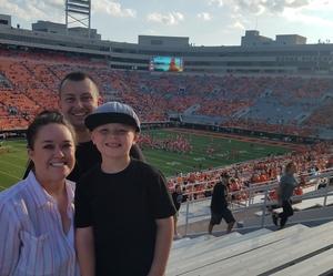 Tiffany attended Oklahoma State University Cowboys vs. Missouri State - NCAA Football on Aug 30th 2018 via VetTix