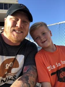 W.D. Stowe attended Oklahoma State University Cowboys vs. Missouri State - NCAA Football on Aug 30th 2018 via VetTix