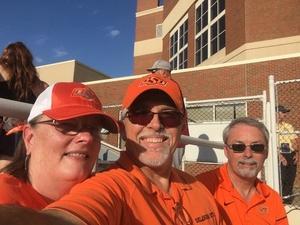 Terry attended Oklahoma State University Cowboys vs. Missouri State - NCAA Football on Aug 30th 2018 via VetTix