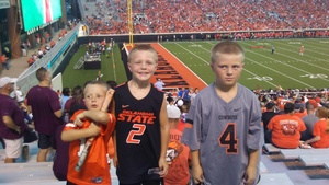 SSGT Chuck Boso attended Oklahoma State University Cowboys vs. Missouri State - NCAA Football on Aug 30th 2018 via VetTix
