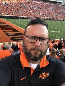 Robert attended Oklahoma State University Cowboys vs. Missouri State - NCAA Football on Aug 30th 2018 via VetTix