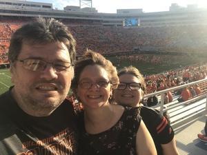 Richard attended Oklahoma State University Cowboys vs. Missouri State - NCAA Football on Aug 30th 2018 via VetTix