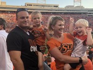 Tyler attended Oklahoma State University Cowboys vs. Missouri State - NCAA Football on Aug 30th 2018 via VetTix