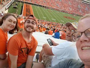 Byron attended Oklahoma State University Cowboys vs. Missouri State - NCAA Football on Aug 30th 2018 via VetTix