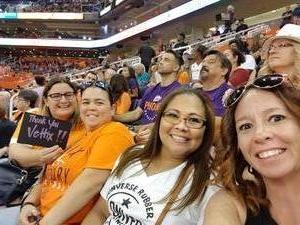 Iolani attended Phoenix Mercury vs. Seattle Storm - WNBA Semi-finals on Aug 31st 2018 via VetTix