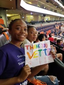 sedrick attended Phoenix Mercury vs. Seattle Storm - WNBA Semi-finals on Aug 31st 2018 via VetTix