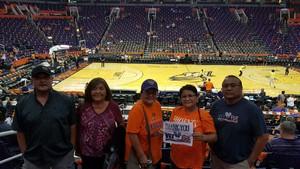 Wil attended Phoenix Mercury vs. Seattle Storm - WNBA Semi-finals on Aug 31st 2018 via VetTix