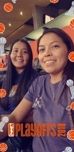 Tanya attended Phoenix Mercury vs. Seattle Storm - WNBA Semi-finals on Aug 31st 2018 via VetTix