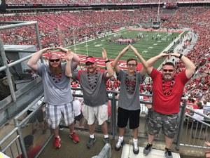David attended Ohio State Buckeyes vs. Oregon State - NCAA Football on Sep 1st 2018 via VetTix